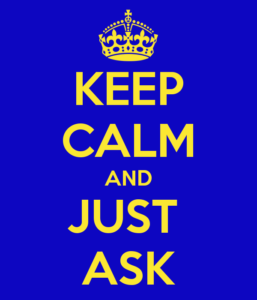 keep calm and just ask for referrals